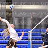 Hamilton College middle blocker Dorothy Poucher (14)<br /> <br /> 9/26/18 7:06:01 PM Women's Volleyball:  SUNY Geneseo vs Hamilton College, at Margaret Bundy Scott Field House, Hamilton College, Clinton, NY<br /> <br /> Final: SUNY Geneseo 0  Hamilton 3<br /> <br /> Photo by Josh McKee