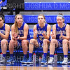 Hamilton College G/F Kayla Glemaud (15), Hamilton College guard Carly O'Hern (11), Hamilton College guard Marie Steiner (23), Hamilton College forward Liz Arnold (12), Hamilton College G/F Halie Serbent (32)<br /> <br /> 1/12/19 3:06:13 PM Women's Basketball:  Connecticut College v Hamilton College at Margaret Bundy Scott Field House, Hamilton College, Clinton, NY<br /> <br /> Final:  Conn  62  Hamilton 53<br /> <br /> Photo by Josh McKee
