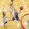 Hamilton College guard Kelcie Zarle (0)<br /> <br /> 1/12/19 4:34:14 PM Women's Basketball:  Connecticut College v Hamilton College at Margaret Bundy Scott Field House, Hamilton College, Clinton, NY<br /> <br /> Final:  Conn  62  Hamilton 53<br /> <br /> Photo by Josh McKee