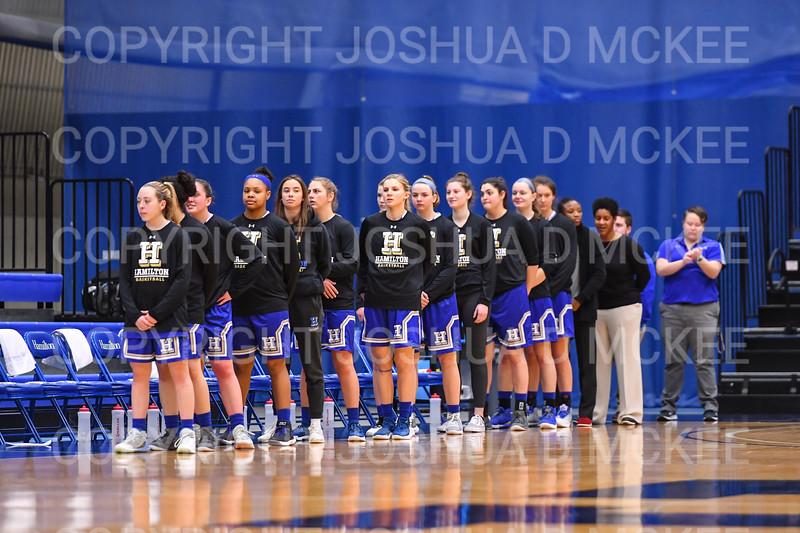 Team<br /> <br /> 1/12/19 3:03:59 PM Women's Basketball:  Connecticut College v Hamilton College at Margaret Bundy Scott Field House, Hamilton College, Clinton, NY<br /> <br /> Final:  Conn  62  Hamilton 53<br /> <br /> Photo by Josh McKee