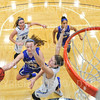 Hamilton College G/F Halie Serbent (32)<br /> <br /> 1/12/19 4:39:14 PM Women's Basketball:  Connecticut College v Hamilton College at Margaret Bundy Scott Field House, Hamilton College, Clinton, NY<br /> <br /> Final:  Conn  62  Hamilton 53<br /> <br /> Photo by Josh McKee