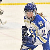 Hamilton College forward Mya Berretta (11)<br /> <br /> 1/22/19 6:08:12 PM Women's Hockey:  Wesleyan University v Hamilton College at Russell Sage Rink, Hamilton College, Clinton, NY<br /> <br /> Final:  Wesleyan  2  Hamilton 2<br /> <br /> Photo by Josh McKee