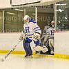Hamilton College goaltender Sammy Johnson (35)<br /> <br /> 11/17/18 6:56:42 PM Women's Hockey:  Williams College v Hamilton College at Russell Sage Rink, Hamilton College, Clinton, NY<br /> <br /> Final:  Williams  4  Hamilton 3<br /> <br /> Photo by Josh McKee