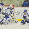 Hamilton College goaltender Sidney Molnar (30), Hamilton College forward Missy Segall (15)<br /> <br /> 11/17/18 8:47:59 PM Women's Hockey:  Williams College v Hamilton College at Russell Sage Rink, Hamilton College, Clinton, NY<br /> <br /> Final:  Williams  4  Hamilton 3<br /> <br /> Photo by Josh McKee