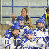 Hamilton College head coach Emily McNamara<br /> <br /> 11/17/18 8:48:22 PM Women's Hockey:  Williams College v Hamilton College at Russell Sage Rink, Hamilton College, Clinton, NY<br /> <br /> Final:  Williams  4  Hamilton 3<br /> <br /> Photo by Josh McKee