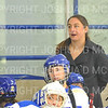 Hamilton College assistant coach Kayte Holtz<br /> <br /> 11/17/18 8:45:00 PM Women's Hockey:  Williams College v Hamilton College at Russell Sage Rink, Hamilton College, Clinton, NY<br /> <br /> Final:  Williams  4  Hamilton 3<br /> <br /> Photo by Josh McKee