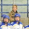 Hamilton College head coach Emily McNamara<br /> <br /> 11/17/18 8:45:04 PM Women's Hockey:  Williams College v Hamilton College at Russell Sage Rink, Hamilton College, Clinton, NY<br /> <br /> Final:  Williams  4  Hamilton 3<br /> <br /> Photo by Josh McKee