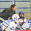 Hamilton College assistant coach Kayte Holtz<br /> <br /> 11/17/18 8:48:40 PM Women's Hockey:  Williams College v Hamilton College at Russell Sage Rink, Hamilton College, Clinton, NY<br /> <br /> Final:  Williams  4  Hamilton 3<br /> <br /> Photo by Josh McKee