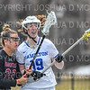 Hamilton College defender Gabby O'Brien (19)<br /> <br /> 3/30/19 11:12:54 AM Women's Lacrosse: #21 Bates College v Hamilton College, at Steuben Field, Hamilton College, Clinton, NY<br /> <br /> Final: #21 Bates 10   Hamilton 8  <br /> <br /> Photo by Josh McKee