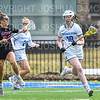 Hamilton College defender Gabby O'Brien (19)<br /> <br /> 3/30/19 11:12:50 AM Women's Lacrosse: #21 Bates College v Hamilton College, at Steuben Field, Hamilton College, Clinton, NY<br /> <br /> Final: #21 Bates 10   Hamilton 8  <br /> <br /> Photo by Josh McKee