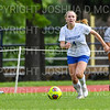 Hamilton College defender Kristin Hughes (4)<br /> <br /> 9/22/18 12:15:17 PM Women's Soccer:  Connecticut College vs Hamilton College, at Love Field, Hamilton College, Clinton NY<br /> <br /> Final:  Conn 1    Hamilton 2<br /> <br /> Photo by Josh McKee