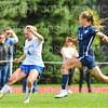 Hamilton College defender Kristin Hughes (4)<br /> <br /> 9/22/18 12:38:59 PM Women's Soccer:  Connecticut College vs Hamilton College, at Love Field, Hamilton College, Clinton NY<br /> <br /> Final:  Conn 1    Hamilton 2<br /> <br /> Photo by Josh McKee