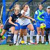 Hamilton College defender Rachel Cady (21)<br /> <br /> 9/22/18 11:50:21 AM Women's Soccer:  Connecticut College vs Hamilton College, at Love Field, Hamilton College, Clinton NY<br /> <br /> Final:  Conn 1    Hamilton 2<br /> <br /> Photo by Josh McKee