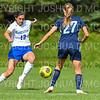 Hamilton College defender Katie McKillop (13)<br /> <br /> 9/22/18 11:14:30 AM Women's Soccer:  Connecticut College vs Hamilton College, at Love Field, Hamilton College, Clinton NY<br /> <br /> Final:  Conn 1    Hamilton 2<br /> <br /> Photo by Josh McKee