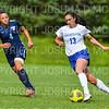 Hamilton College defender Katie McKillop (13)<br /> <br /> 9/22/18 11:16:17 AM Women's Soccer:  Connecticut College vs Hamilton College, at Love Field, Hamilton College, Clinton NY<br /> <br /> Final:  Conn 1    Hamilton 2<br /> <br /> Photo by Josh McKee