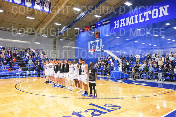 Team<br /> <br /> 3/1/19 7:51:15 PM 2019 NCAA DIII Men's Basketball Championship First Round:  Penn State-Behrend v #10 Hamilton College College at Margaret Bundy Scott Field House, Hamilton College, Clinton, NY<br /> <br /> Final:  Penn State-Behrend 70   Hamilton 72 <br /> <br /> Photo by Josh McKee