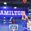 Hamilton College guard Tim Doyle (0)<br /> <br /> 3/8/19 8:05:59 PM 2019 NCAA DIII Men's Basketball Championship Third Rd:  #9 Christopher Newport University v #10 Hamilton College at Margaret Bundy Scott Field House, Hamilton College, Clinton, NY<br /> <br /> Final:  CNU 75   Hamilton 67  <br /> <br /> Photo by Josh McKee