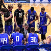 Hamilton College head coach Adam Stockwell, Team<br /> <br /> 3/8/19 8:19:44 PM 2019 NCAA DIII Men's Basketball Championship Third Rd:  #9 Christopher Newport University v #10 Hamilton College at Margaret Bundy Scott Field House, Hamilton College, Clinton, NY<br /> <br /> Final:  CNU 75   Hamilton 67  <br /> <br /> Photo by Josh McKee
