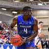 Hamilton College guard Nick Osarenren (4)<br /> <br /> 3/8/19 8:15:03 PM 2019 NCAA DIII Men's Basketball Championship Third Rd:  #9 Christopher Newport University v #10 Hamilton College at Margaret Bundy Scott Field House, Hamilton College, Clinton, NY<br /> <br /> Final:  CNU 75   Hamilton 67  <br /> <br /> Photo by Josh McKee