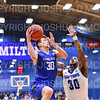 Hamilton College G/F Peter Hoffmann (30)<br /> <br /> 3/8/19 8:01:23 PM 2019 NCAA DIII Men's Basketball Championship Third Rd:  #9 Christopher Newport University v #10 Hamilton College at Margaret Bundy Scott Field House, Hamilton College, Clinton, NY<br /> <br /> Final:  CNU 75   Hamilton 67  <br /> <br /> Photo by Josh McKee