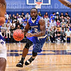 Hamilton College guard Sayo Denloye (12)<br /> <br /> 3/8/19 8:09:33 PM 2019 NCAA DIII Men's Basketball Championship Third Rd:  #9 Christopher Newport University v #10 Hamilton College at Margaret Bundy Scott Field House, Hamilton College, Clinton, NY<br /> <br /> Final:  CNU 75   Hamilton 67  <br /> <br /> Photo by Josh McKee