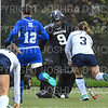 Hamilton College goalkeeper Julia Booth (9)<br /> <br /> 10/27/18 12:37:54 PM NESCAC Field Hockey Championship Quarterfinals:  #17 Trinity College vs #14 Hamilton College, at Goodfriend Field, Hamilton College, Clinton, NY<br /> <br /> Final:  Trinity 2   Hamilton 0<br /> <br /> Photo by Josh McKee
