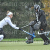 Hamilton College goalkeeper Julia Booth (9)<br /> <br /> 10/27/18 12:55:14 PM NESCAC Field Hockey Championship Quarterfinals:  #17 Trinity College vs #14 Hamilton College, at Goodfriend Field, Hamilton College, Clinton, NY<br /> <br /> Final:  Trinity 2   Hamilton 0<br /> <br /> Photo by Josh McKee