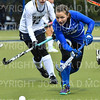 Hamilton College defender Sarah Kane (12)<br /> <br /> 10/27/18 12:36:32 PM NESCAC Field Hockey Championship Quarterfinals:  #17 Trinity College vs #14 Hamilton College, at Goodfriend Field, Hamilton College, Clinton, NY<br /> <br /> Final:  Trinity 2   Hamilton 0<br /> <br /> Photo by Josh McKee