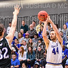 Hamilton College forward Andrew Groll (44)<br /> <br /> 2/24/19 12:07:07 PM NESCAC 2019 Men's Basketball Finals:  #13 Amherst College v #8 Hamilton College at Margaret Bundy Scott Field House, Hamilton College, Clinton, NY<br /> <br /> Final:  Amherst 62   Hamilton 56 <br /> <br /> Photo by Josh McKee