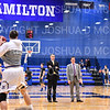 Hamilton College head coach Adam Stockwell, Hamilton College assistant coach Sherry Dobbs<br /> <br /> 2/16/19 2:50:14 PM NESCAC Men's Basketball Quarterfinals:  Colby College v #10 Hamilton College at Margaret Bundy Scott Field House, Hamilton College, Clinton, NY<br /> <br /> Final:  Colby 88   Hamilton 93<br /> <br /> Photo by Josh McKee