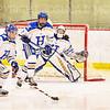 Hamilton College forward Mya Berretta (11), Hamilton College defender Emily Walther (7), Hamilton College goaltender Gabrielle Venne (31)<br /> <br /> 2/23/19 5:07:59 PM NESCAC 2019 Women's Hockey Quarterfinals:  Colby College v Hamilton College at Russell Sage Rink, Hamilton College, Clinton, NY<br /> <br /> Final:  Colby 1   Hamilton 3<br /> <br /> Photo by Josh McKee