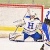 Hamilton College goaltender Gabrielle Venne (31)<br /> <br /> 2/23/19 5:13:20 PM NESCAC 2019 Women's Hockey Quarterfinals:  Colby College v Hamilton College at Russell Sage Rink, Hamilton College, Clinton, NY<br /> <br /> Final:  Colby 1   Hamilton 3<br /> <br /> Photo by Josh McKee