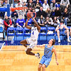 Hamilton College guard Nick Osarenren (4)<br /> <br /> 2/23/19 2:34:33 PM NESCAC 2019 Men's Basketball Semi-Finals:  Tufts University v #8 Hamilton College at Margaret Bundy Scott Field House, Hamilton College, Clinton, NY<br /> <br /> Final:  Tufts 84   Hamilton 89<br /> <br /> Photo by Josh McKee