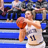Hamilton College guard Carly O'Hern (11)<br /> <br /> 11/28/18 7:07:09 PM Women's Basketball: Morrisville State v Hamilton College at Margaret Bundy Scott Field House, Hamilton College, Clinton, NY<br /> <br /> Final: Morrisville 60   Hamilton 91<br /> <br /> Photo by Josh McKee