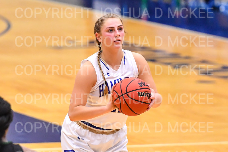 Hamilton College guard Carly O'Hern (11)<br /> <br /> 11/28/18 7:55:49 PM Women's Basketball: Morrisville State v Hamilton College at Margaret Bundy Scott Field House, Hamilton College, Clinton, NY<br /> <br /> Final: Morrisville 60   Hamilton 91<br /> <br /> Photo by Josh McKee
