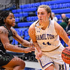 Hamilton College guard Carly O'Hern (11)<br /> <br /> 11/28/18 7:25:35 PM Women's Basketball: Morrisville State v Hamilton College at Margaret Bundy Scott Field House, Hamilton College, Clinton, NY<br /> <br /> Final: Morrisville 60   Hamilton 91<br /> <br /> Photo by Josh McKee