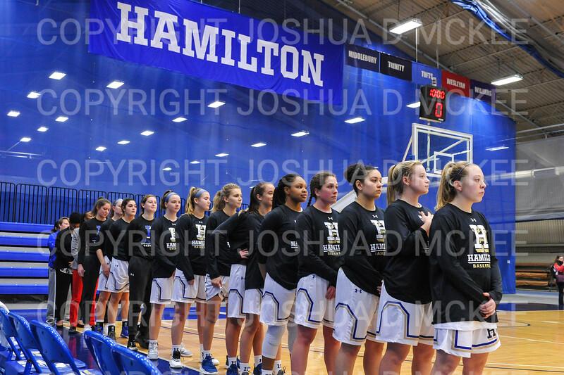 Team<br /> <br /> 11/28/18 7:00:30 PM Women's Basketball: Morrisville State v Hamilton College at Margaret Bundy Scott Field House, Hamilton College, Clinton, NY<br /> <br /> Final: Morrisville 60   Hamilton 91<br /> <br /> Photo by Josh McKee