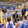 Hamilton College head coach Mahogany Green, Team<br /> <br /> 11/28/18 7:23:44 PM Women's Basketball: Morrisville State v Hamilton College at Margaret Bundy Scott Field House, Hamilton College, Clinton, NY<br /> <br /> Final: Morrisville 60   Hamilton 91<br /> <br /> Photo by Josh McKee