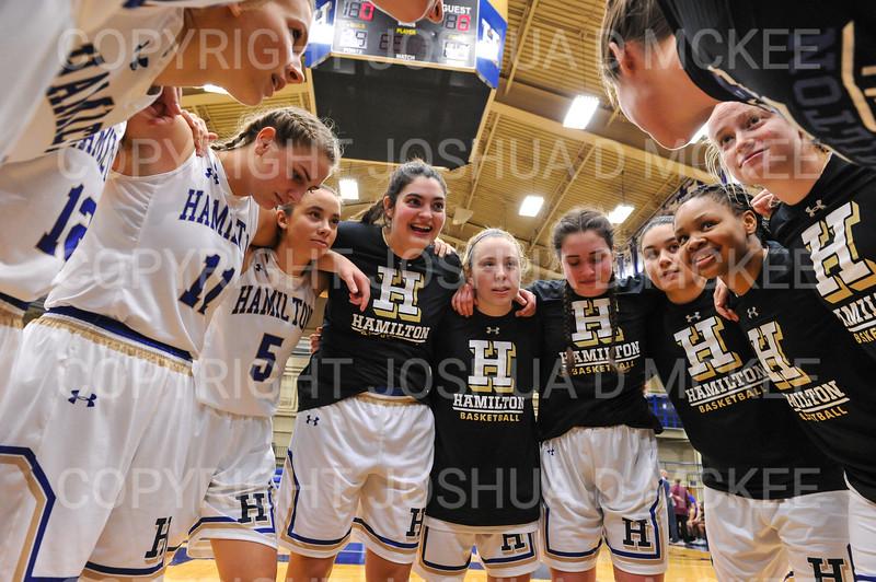 Team<br /> <br /> 11/28/18 7:04:09 PM Women's Basketball: Morrisville State v Hamilton College at Margaret Bundy Scott Field House, Hamilton College, Clinton, NY<br /> <br /> Final: Morrisville 60   Hamilton 91<br /> <br /> Photo by Josh McKee