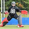 Hamilton College GK Emlyn Harris (88)<br /> <br /> 9/7/19 10:28:10 AM Field Hockey: Bates College v (#18) Hamilton College at Goodfriend Field, Hamilton College, Clinton, NY<br /> <br /> Final:  Bates 3 (OT)  Hamilton 2<br /> <br /> Photo by Josh McKee