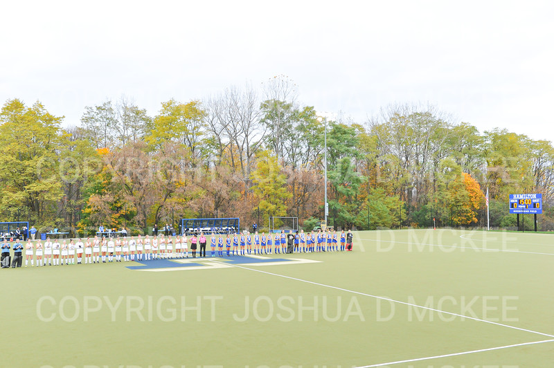 Team<br /> <br /> 10/30/19 4:57:01 PM Field Hockey: University of Rochester v Hamilton College at Goodfriend Field, Hamilton College, Clinton, NY<br /> <br /> Final:  Rochester 1   Hamilton 3<br /> <br /> Photo by Josh McKee