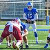 Hamilton College quarterback Kenny Gray (15)<br /> <br /> 11/9/19 1:29:57 PM Football:  Bates College v Hamilton College at Steuben Field, Hamilton College, Clinton, NY<br /> <br /> Final:  Bates 26  Hamilton 21<br /> <br /> Photo by Josh McKee
