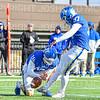 Hamilton College wide receiver Will Budington (18), Hamilton College kicker Sam Thoreen (97)<br /> <br /> 11/9/19 1:09:08 PM Football:  Bates College v Hamilton College at Steuben Field, Hamilton College, Clinton, NY<br /> <br /> Final:  Bates 26  Hamilton 21<br /> <br /> Photo by Josh McKee
