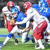Hamilton College quarterback Kenny Gray (15)<br /> <br /> 11/9/19 1:43:38 PM Football:  Bates College v Hamilton College at Steuben Field, Hamilton College, Clinton, NY<br /> <br /> Final:  Bates 26  Hamilton 21<br /> <br /> Photo by Josh McKee