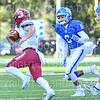 Hamilton College defensive back Justin Leigh (6)<br /> <br /> 11/9/19 1:50:20 PM Football:  Bates College v Hamilton College at Steuben Field, Hamilton College, Clinton, NY<br /> <br /> Final:  Bates 26  Hamilton 21<br /> <br /> Photo by Josh McKee