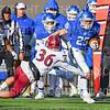 Hamilton College wide receiver Drew Granski (25)<br /> <br /> 11/9/19 3:16:28 PM Football:  Bates College v Hamilton College at Steuben Field, Hamilton College, Clinton, NY<br /> <br /> Final:  Bates 26  Hamilton 21<br /> <br /> Photo by Josh McKee