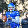 Hamilton College quarterback Kenny Gray (15)<br /> <br /> 11/9/19 3:36:12 PM Football:  Bates College v Hamilton College at Steuben Field, Hamilton College, Clinton, NY<br /> <br /> Final:  Bates 26  Hamilton 21<br /> <br /> Photo by Josh McKee