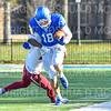 Hamilton College wide receiver Will Budington (18)<br /> <br /> 11/9/19 2:50:43 PM Football:  Bates College v Hamilton College at Steuben Field, Hamilton College, Clinton, NY<br /> <br /> Final:  Bates 26  Hamilton 21<br /> <br /> Photo by Josh McKee