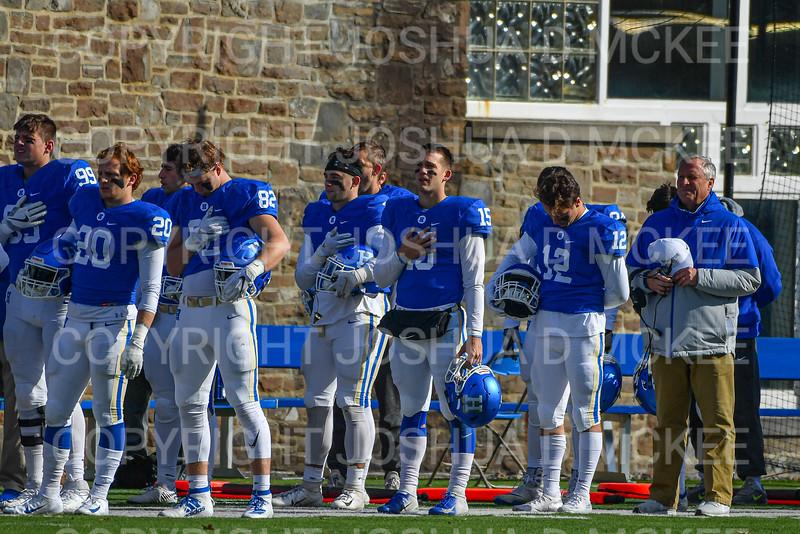 Team, Hamilton College head coach Dave Murray<br /> <br /> 11/9/19 1:00:43 PM Football:  Bates College v Hamilton College at Steuben Field, Hamilton College, Clinton, NY<br /> <br /> Final:  Bates 26  Hamilton 21<br /> <br /> Photo by Josh McKee