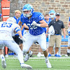 Hamilton College linebacker Mike Cairns (32)<br /> <br /> 9/28/19 2:19:39 PM Football:  Colby College v Hamilton College at Steuben Field, Hamilton College, Clinton, NY<br /> <br /> Final:  Colby 24  Hamilton 45<br /> <br /> Photo by Josh McKee